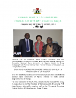 Courtesy Call by Professor Aisha Kanwar President and CEO Commonwealth of Learning