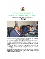 FEDERAL GOVERNMENT INAUGURATES ADMINISTRATIVE AUDIT PANEL