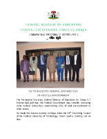 FG TO RELOCATE FEDERAL UNIVERSITIES