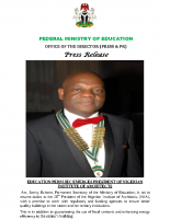 EDUCATION PERM SEC EMERGES PRESIDENT OF NIGERIAN INSTITUTE OF ARCHITECTS