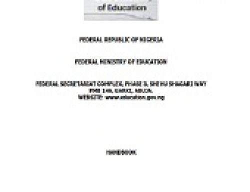 FEDERAL MINISTRY OF EDUCATION HANDBOOK