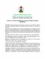FG GIVES GUIDELINES TO SCHOOL OWNERS TOWARDS REOPENING