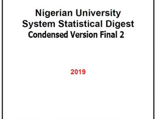 2019 NIGERIAN UNIVERSITY SYSTEM STATISTICAL DIGEST CONDENSED VERSION FINAL 2